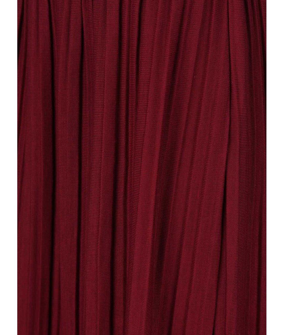 Vínová plisovaná sukně Alchymi Anya - Akční cena  4b8ea96e9d