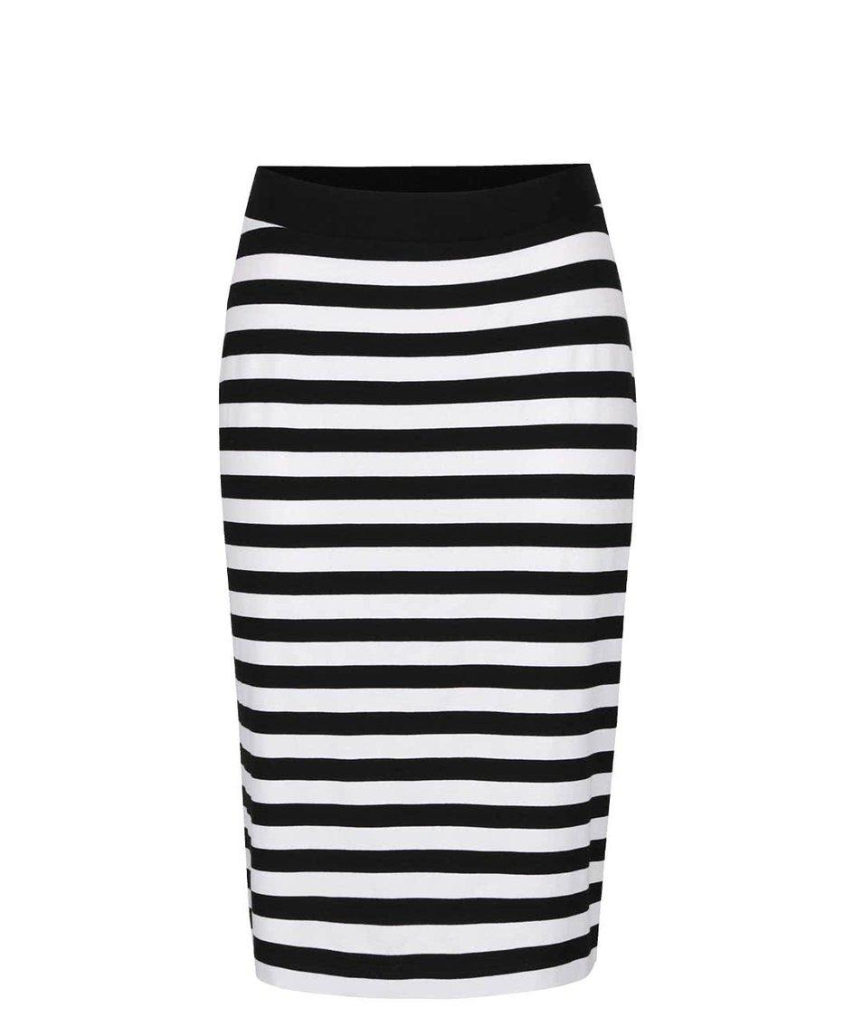 Bílo-černá pruhovaná sukně Jana Minaříková Original Myself