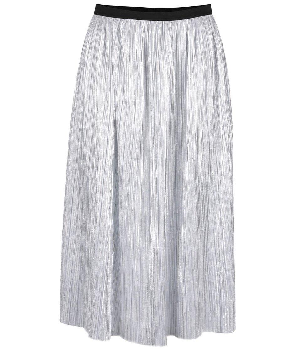 Plisovaná midi sukně ve stříbrné barvě TALLY WEiJL