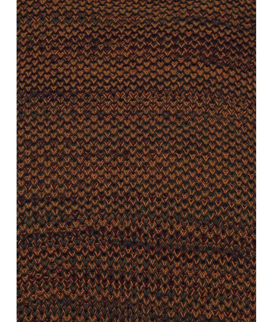 f14c1eaab89 Vínovo-hnědý žíhaný svetr Burton Menswear London Burton Menswear London
