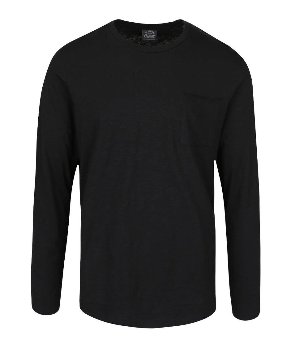 Černé triko s náprsní kapsou Jack & Jones Dong