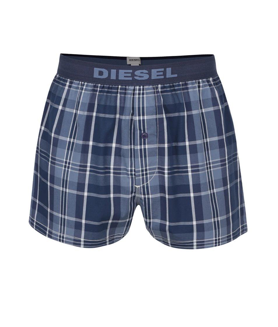 Modré vzorované pánské trenýrky Diesel