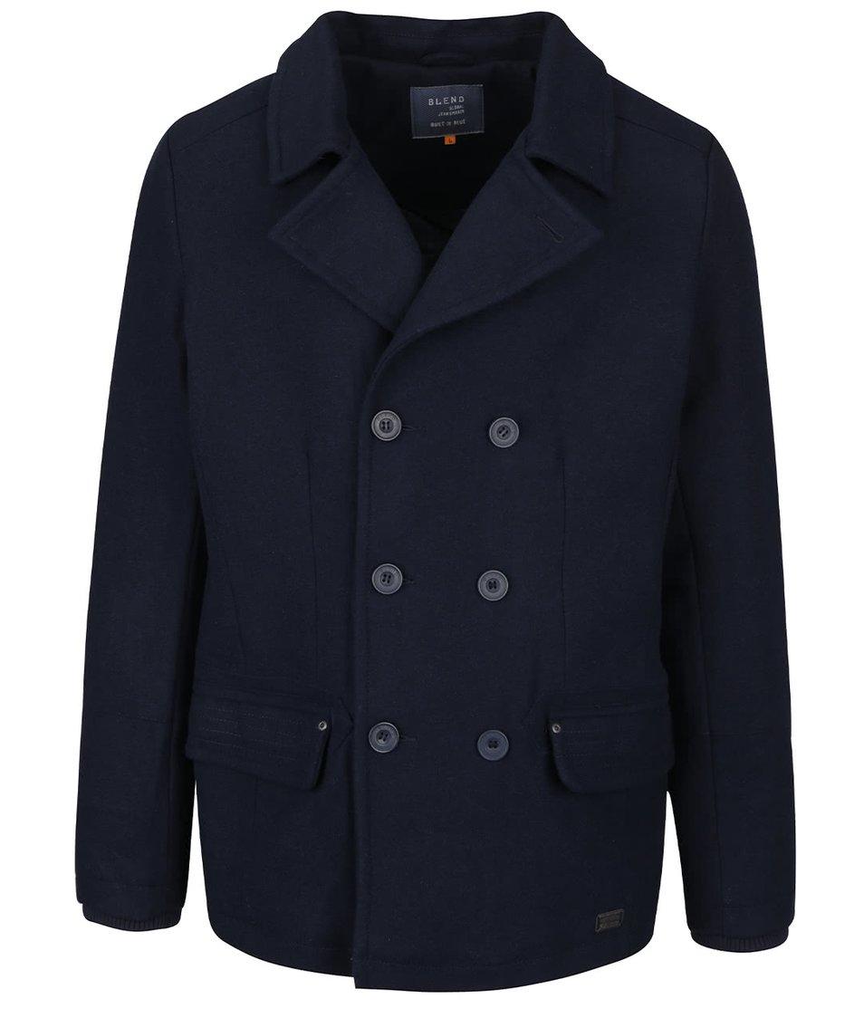 Tmavě modrý kratší kabát Blend