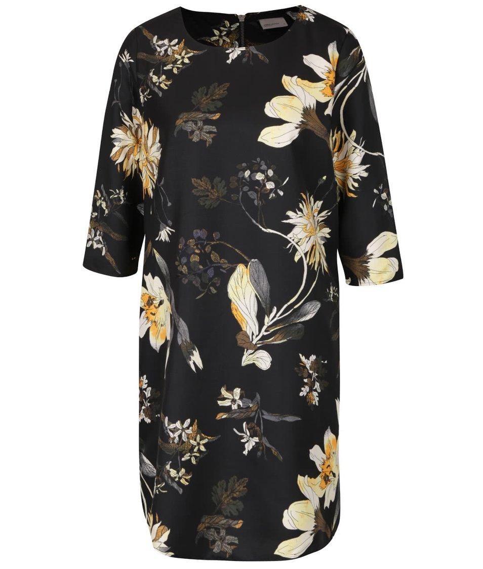 Černé šaty s květinovým vzorem Vero Moda Fallon