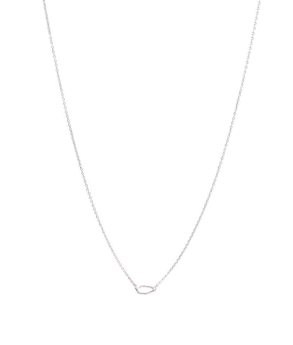 Náhrdelník s přívěskem ve stříbrné barvě v dárkovém balení Pieces Simplicity