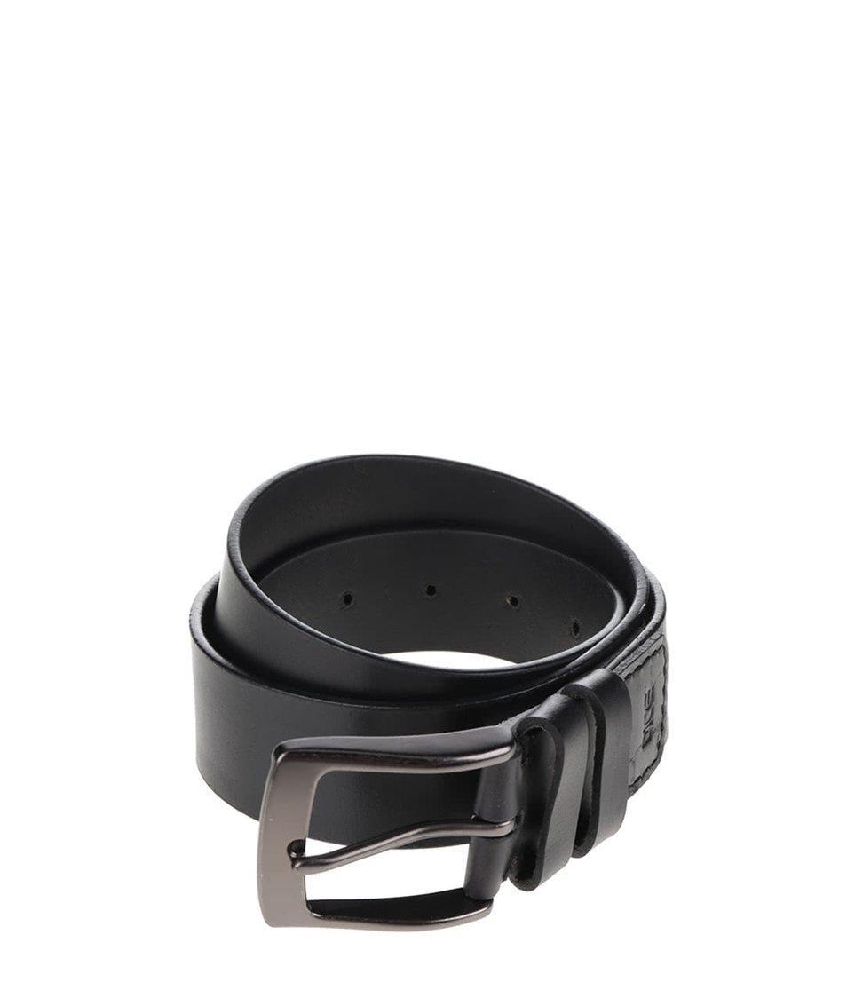 Černý kožený pásek Dice Clovis