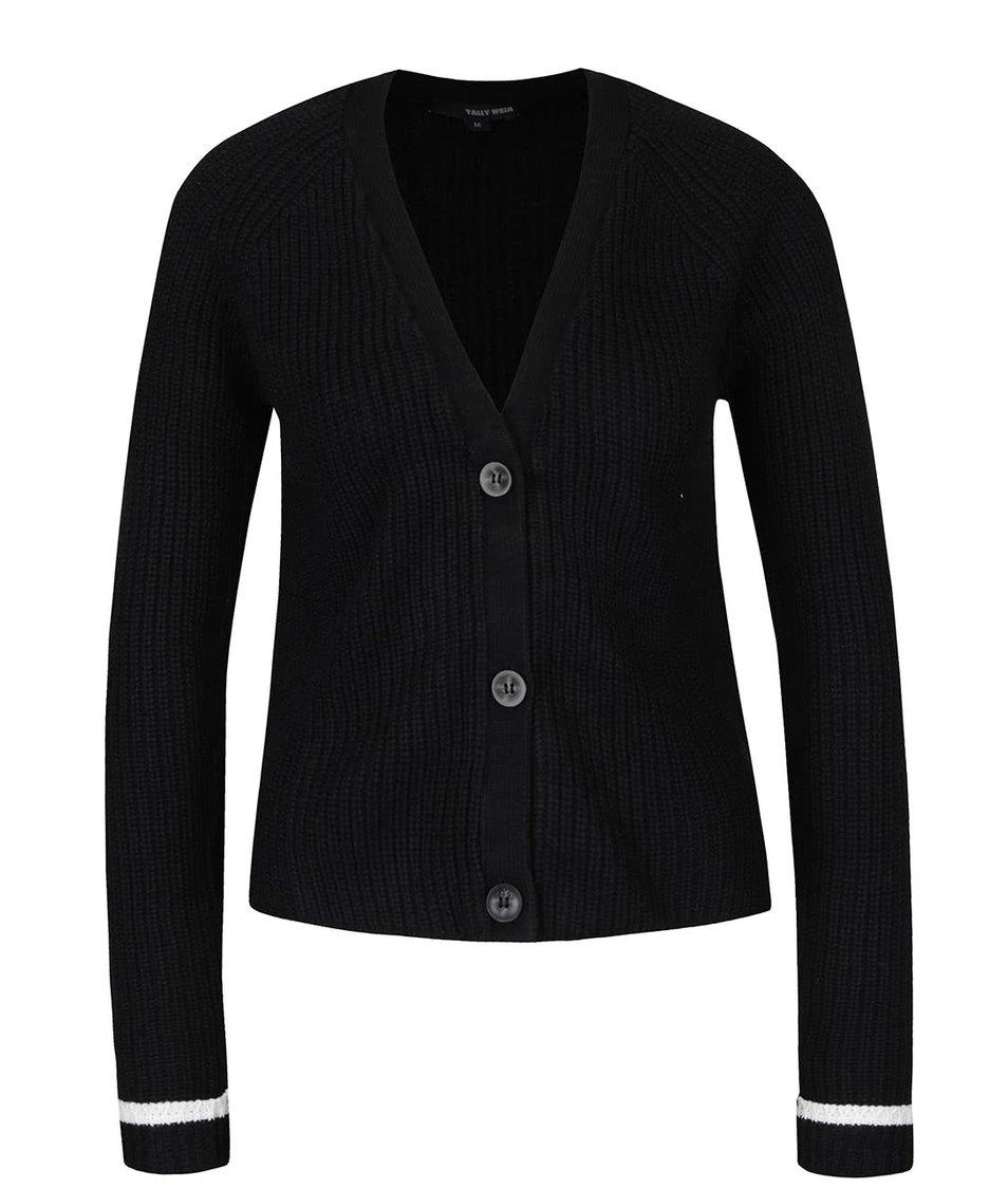 Černý svetr se zapínáním na knoflíky TALLY WEiJL