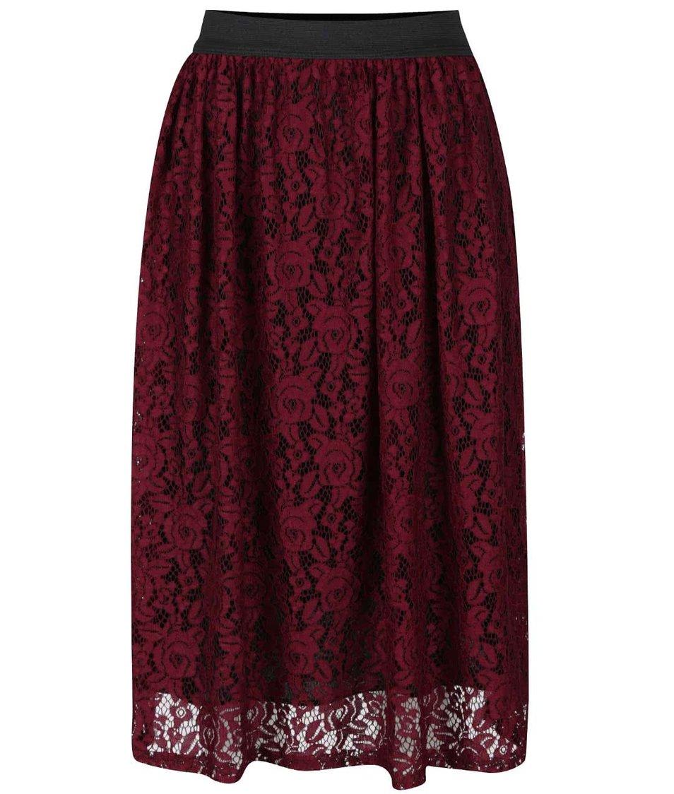 Vínová krajková sukně Alchymi