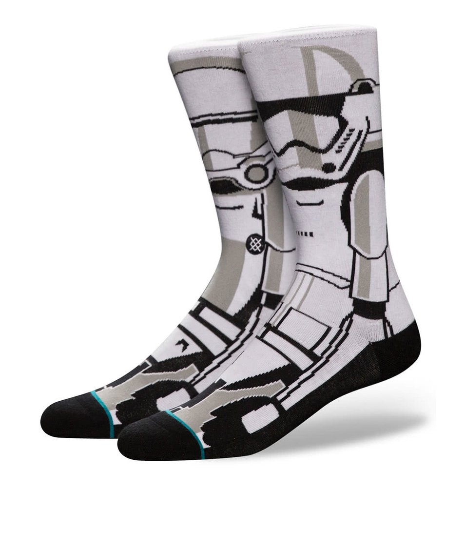 Šedo-bílé pánské ponožky s motivem Star Wars Stance Trooper
