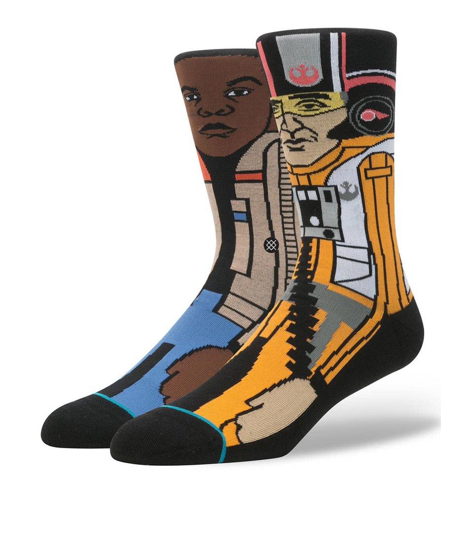 Hnědo-žluté pánské ponožky s motivem Star Wars Stance Resistance