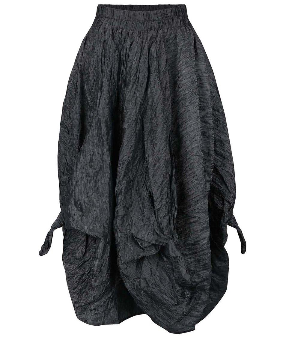Tmavě šedá lesklá sukně s uzly Bianca Popp