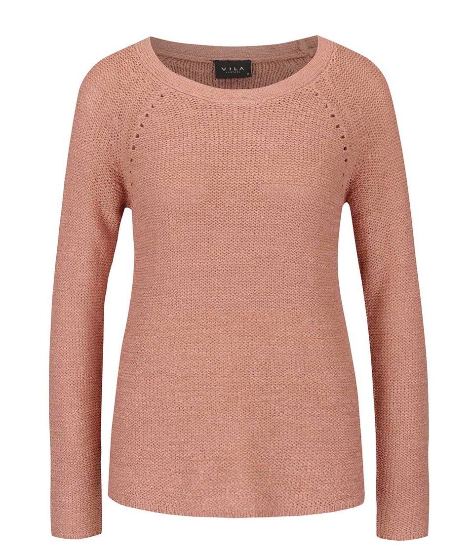 Růžový svetr VILA Tapa