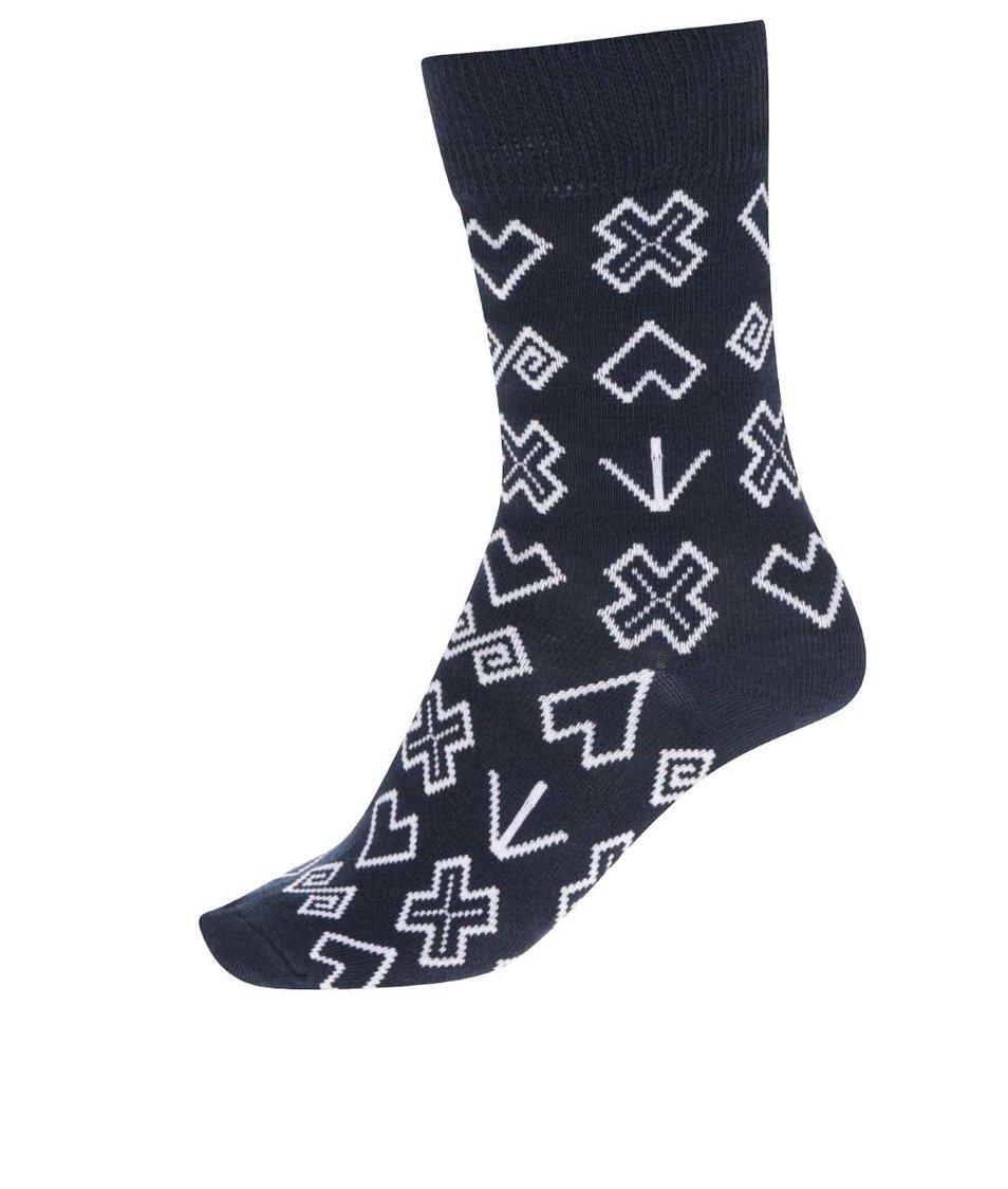 Modré dámské vzorované ponoížky Puojd Šampiónky