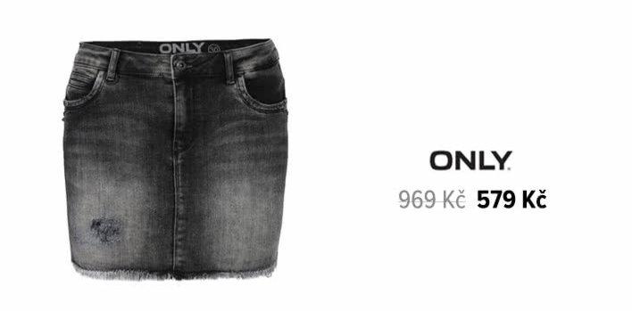 Tmavě šedá džínová sukně ONLY Kendell