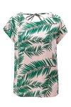 Zeleno-ružové vzorované tričko s hlbokým výstrihom na chrbte Blendshe Adeli