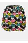 Béžovo-sivá vzorovaná obojstranná sukňa BÓBOLI