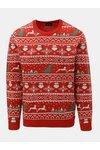 Červený svetr s vánočním motivem ONLY & SONS Xmas