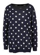 Tmavomodrý bodkovaný sveter VERO MODA Dotty