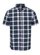 Krémovo-zelená károvaná košeľa Burton Menswear London