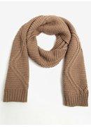 Fular bej tricotat cu model discret - Pieces Judith