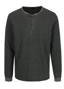 Sivé pánske pruhované tričko s gombíkmi s.Oliver