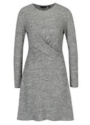 Sivé melírované šaty s prekrížením Dorothy Perkins