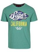 Zelené tričko s potiskem  a krátkým rukávem Superdry Classic