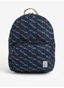 Tmavomodrý dámsky batoh s farebnou potlačou The Pack Society 18 l