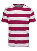 Tricou alb-roz in dungi ONLY & SONS Dontell