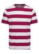 Bílo-růžové pruhované tričko ONLY & SONS Dontell