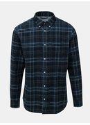 Černo-modrá károvaná košile Jack & Jones Carrick