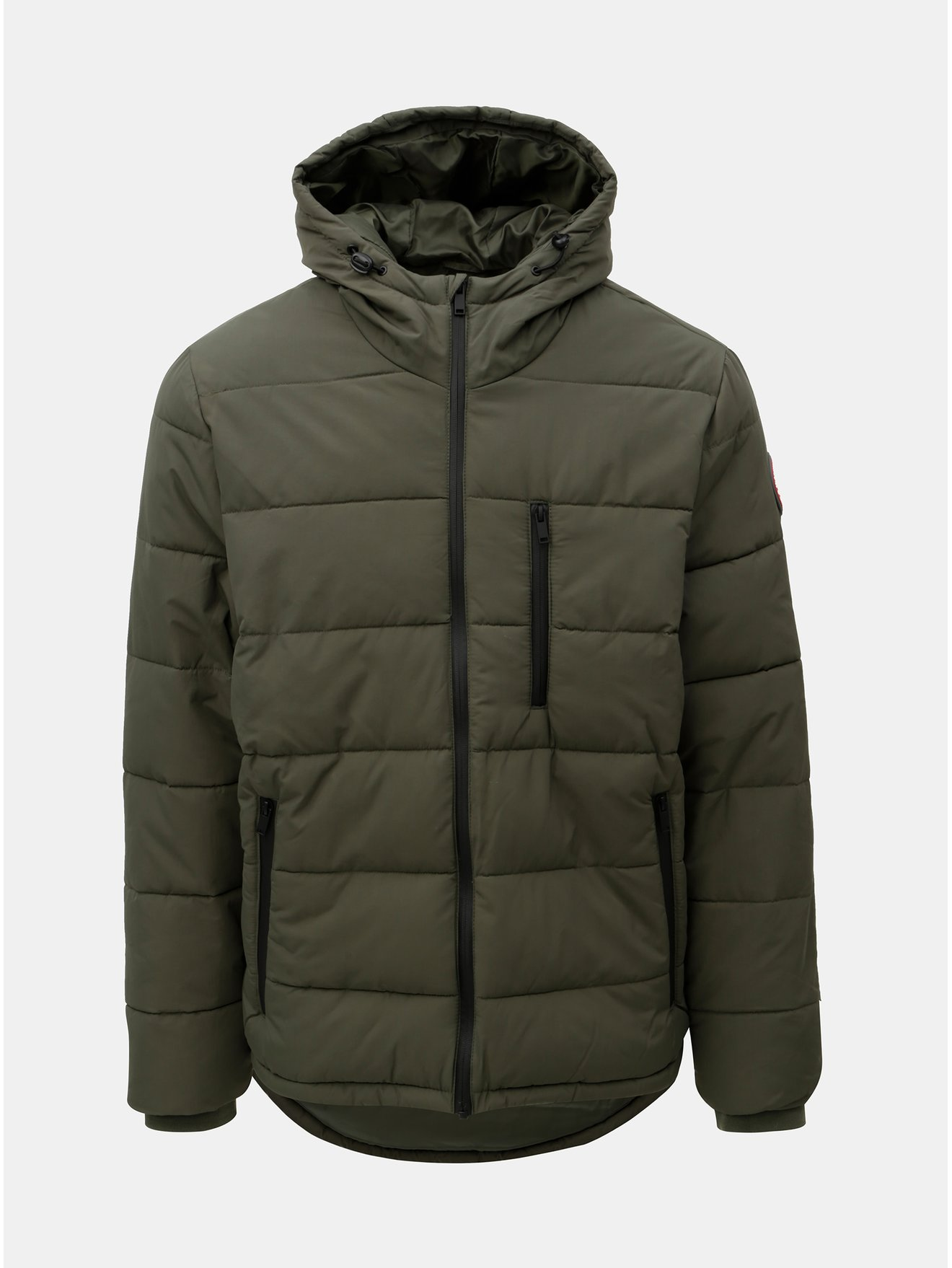 Khaki prošívaná zimní bunda Burton Menswear London Aspen