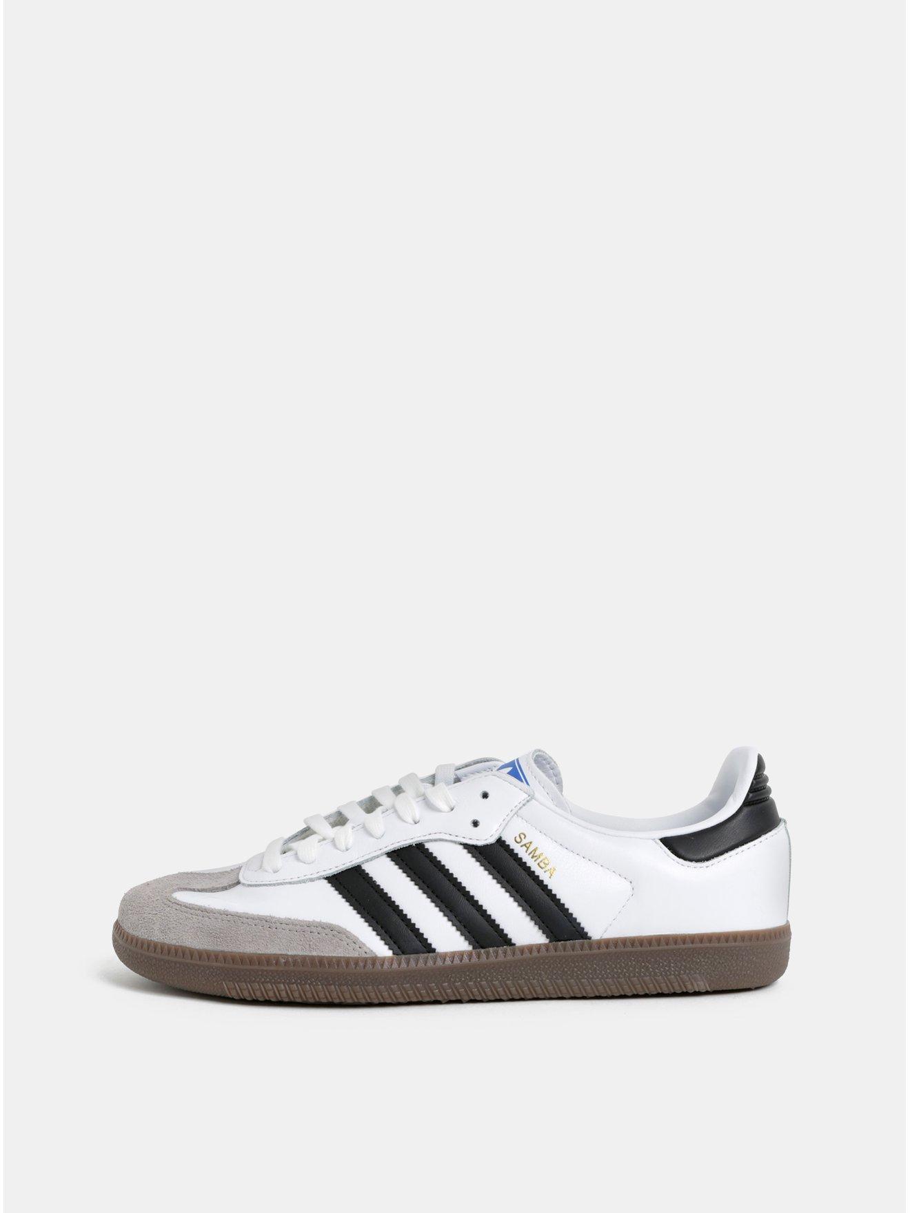 Bílé tenisky s detaily v semišové úpravě adidas Originals Samba