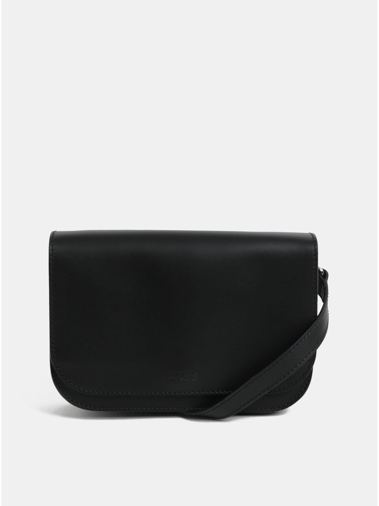 Černá kožená malá crossbody kabelka BREE Cambridge 15
