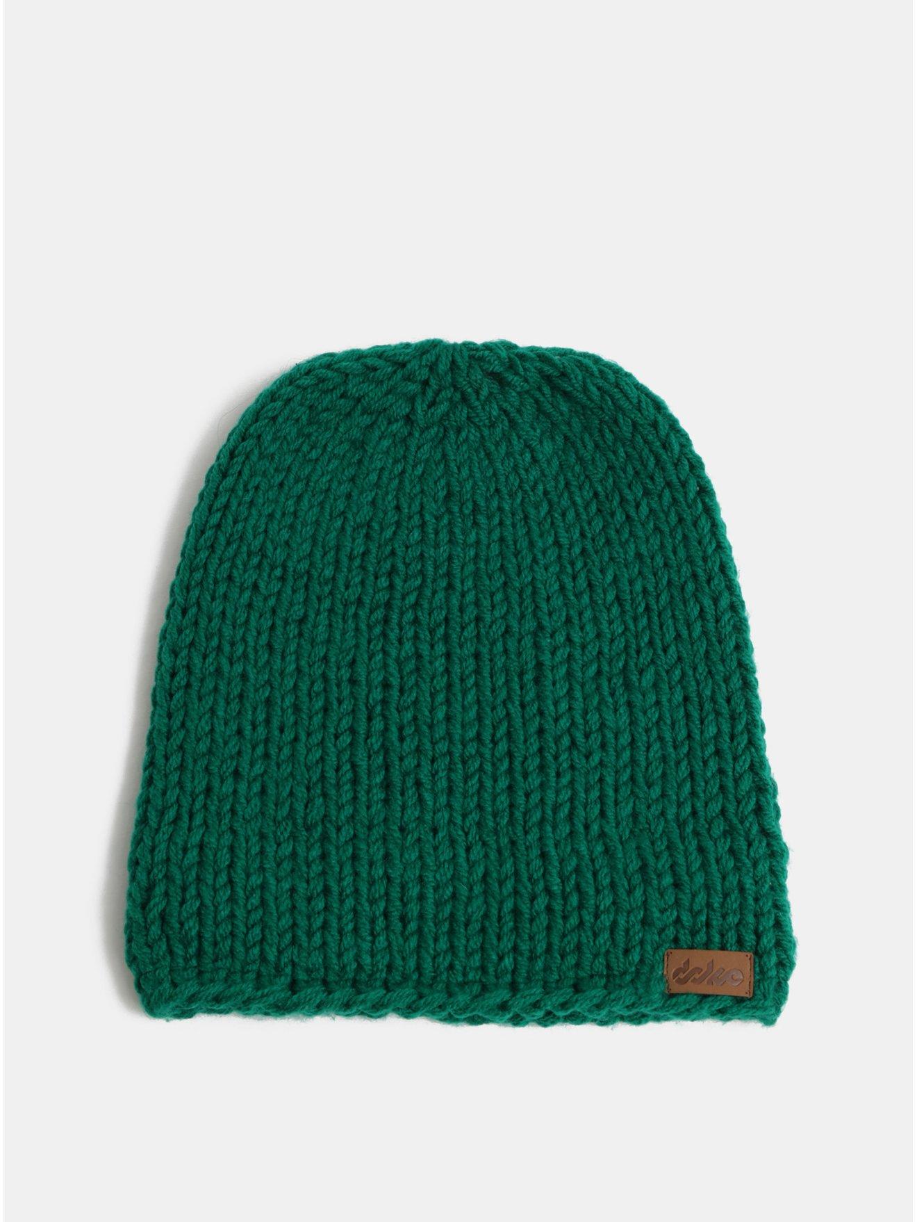 Zelená pletená zimní čepice DOKE
