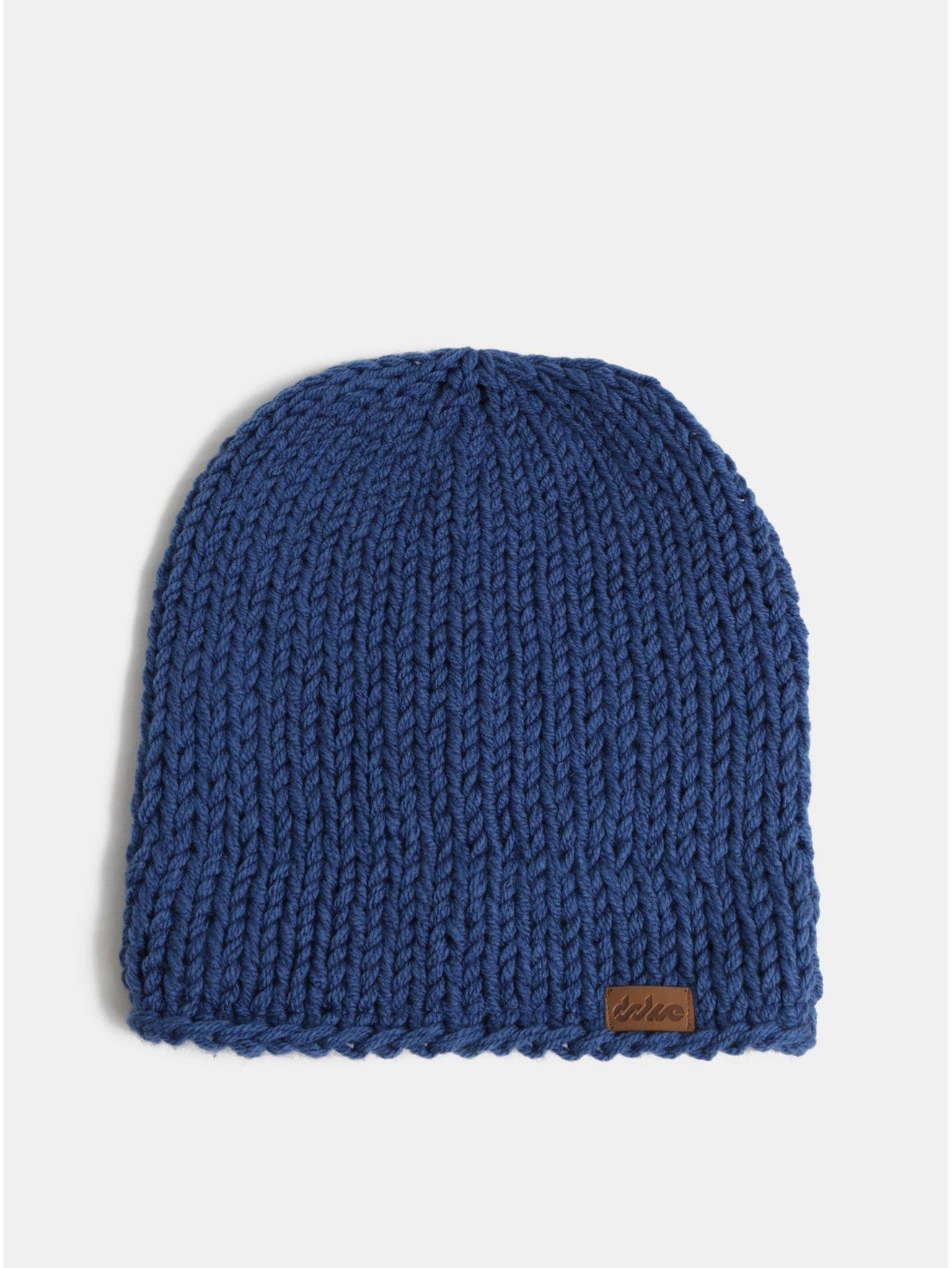 Modrá zimní pletená čepice DOKE