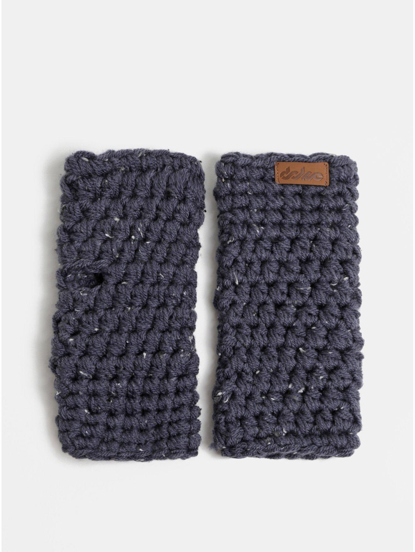 Tmavomodré pletené návleky na ruky DOKE