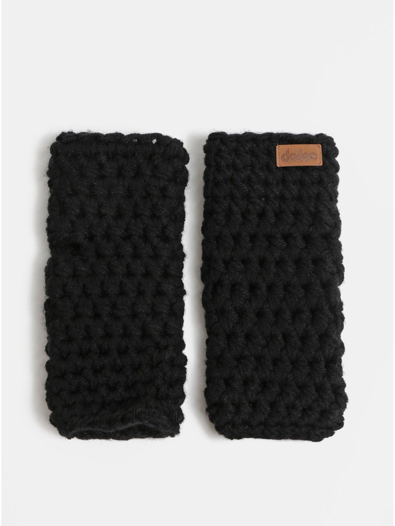 Čierne pletené návleky na ruky DOKE