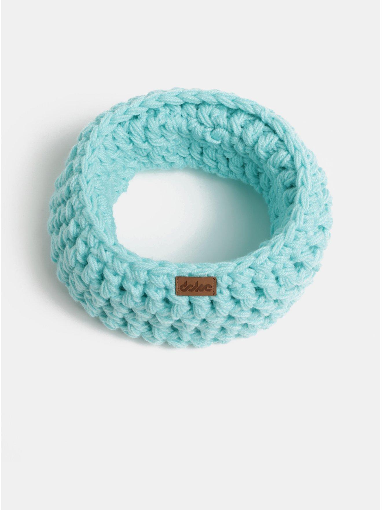 Tyrkysový pletený nákrčník DOKE 366c4e6c60