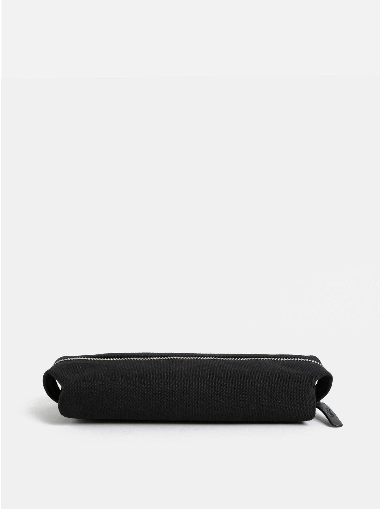 Černý penál s koženými detaily Bellroy