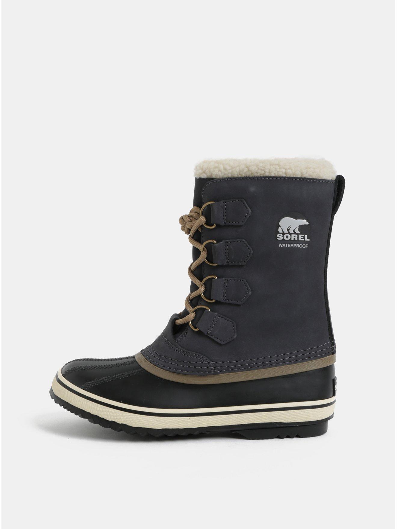 0f706fd9d7ff0 Tmavosivé dámske semišové zimné nepremokavé topánky SOREL 1964 Pac 2