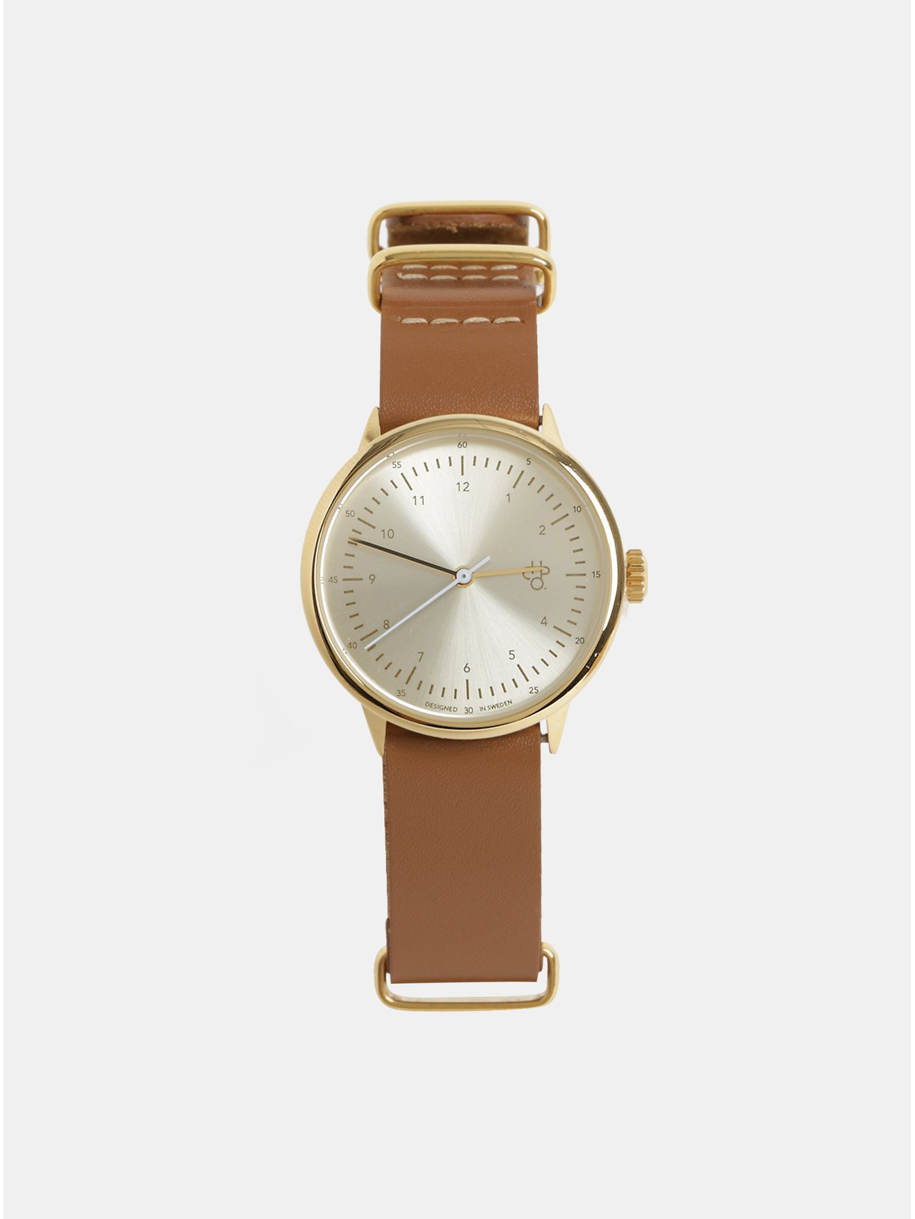 6d378c122 Dámske hodinky s hnedým koženým remienkom CHPO Harold Mini Gold