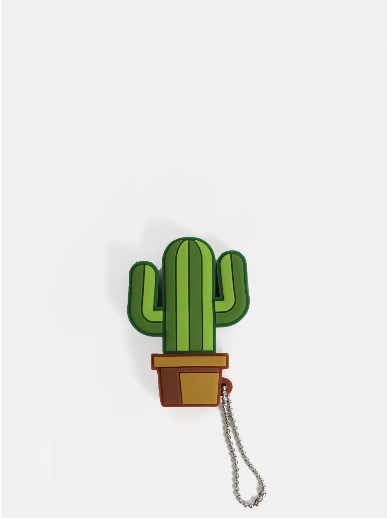 Hnědo-zelený audio rozbočovač ve tvaru kaktusu Mustard