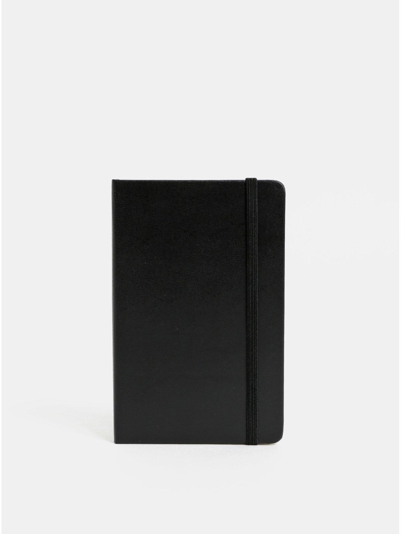 Černý linkovaný mini zápisník s pevnou vazbou Moleskine A6