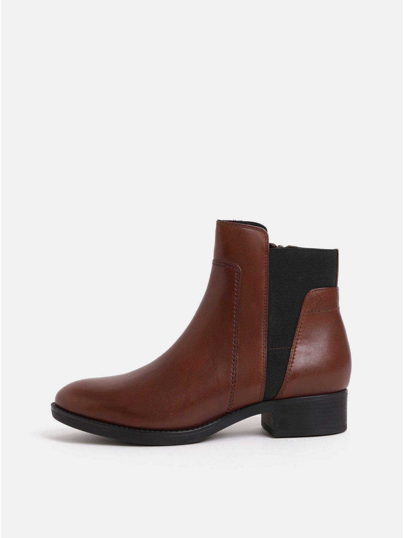 c9fdc0aa2d Hnedé dámske kožené chelsea topánky Geox Felicity