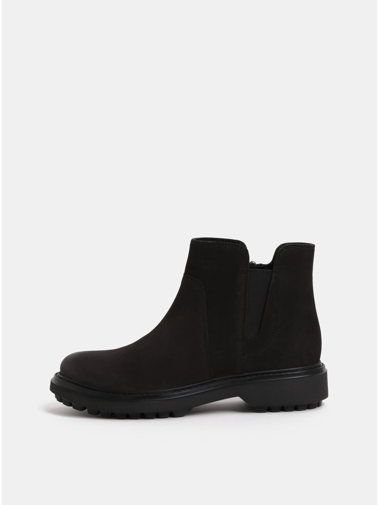 d03e2873621 Černé dámské semišové kotníkové boty Geox Asheely