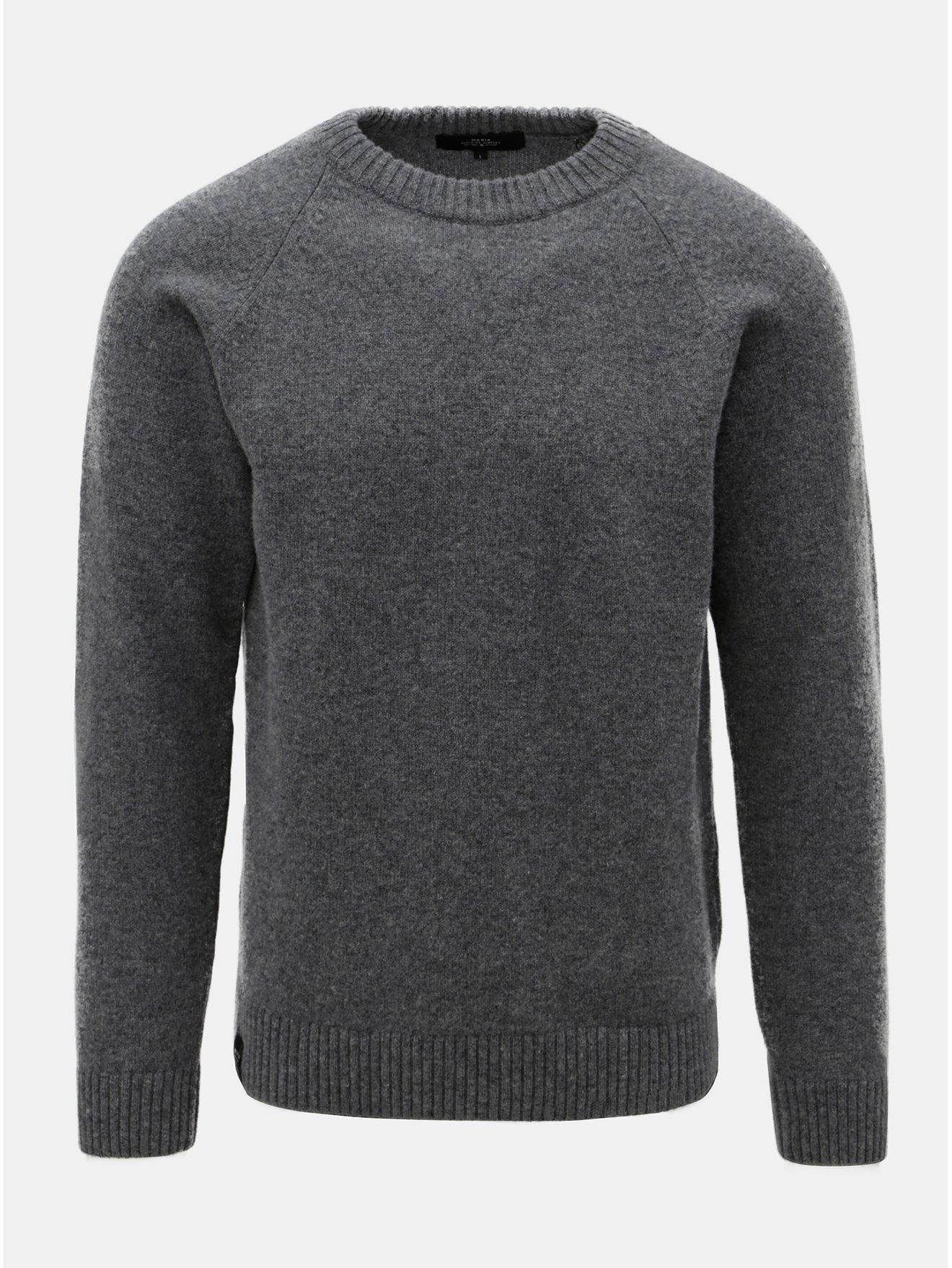 Šedý pánský svetr z Merino vlny Makia Nordic