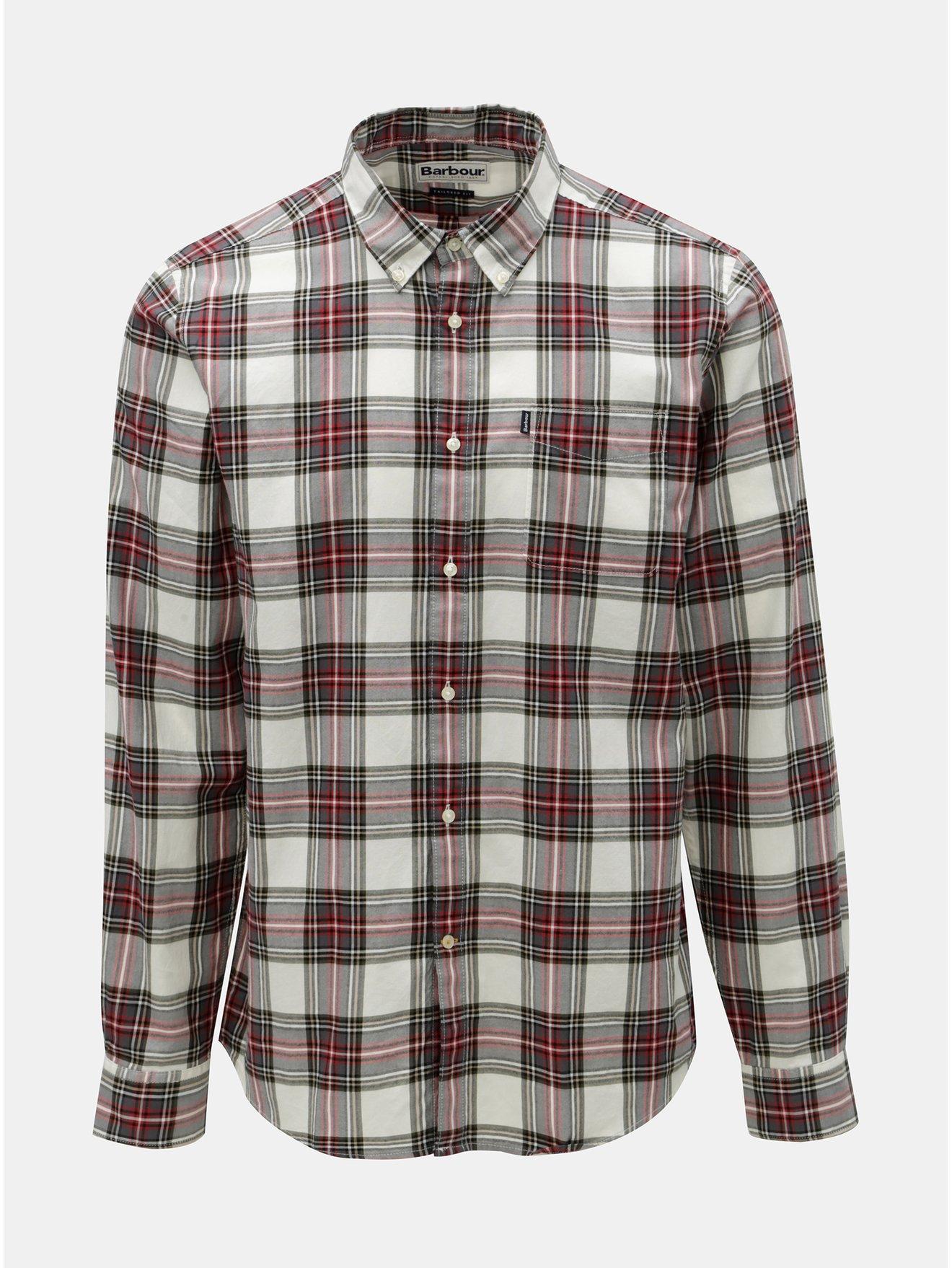 ca4749f6fab7 Červeno-bílá kostkovaná košile s náprsní kapsou Barbour Endsleigh Highland  Check