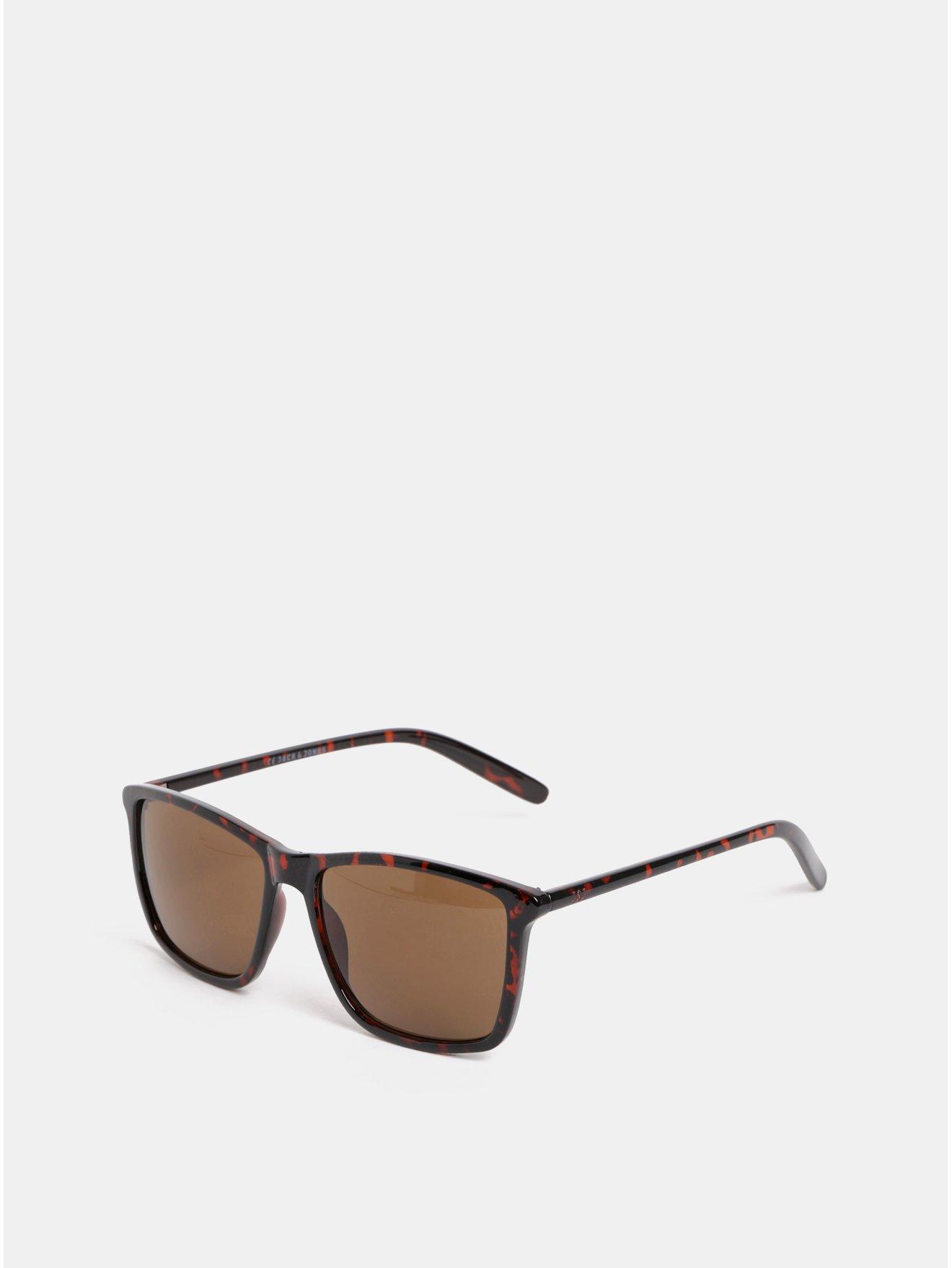 Hnedé vzorované slnečné okuliare Jack & Jones Fast