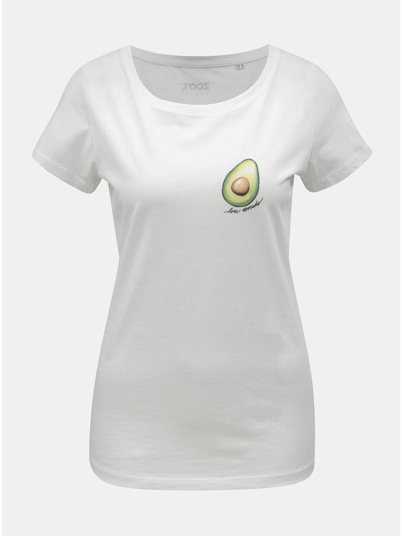 Bílé dámské tričko s motivem avokáda ZOOT Original Avocado 09ed934070
